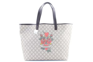Gucci Tatoo Heart Roses Flower 2017 Tote in Brown