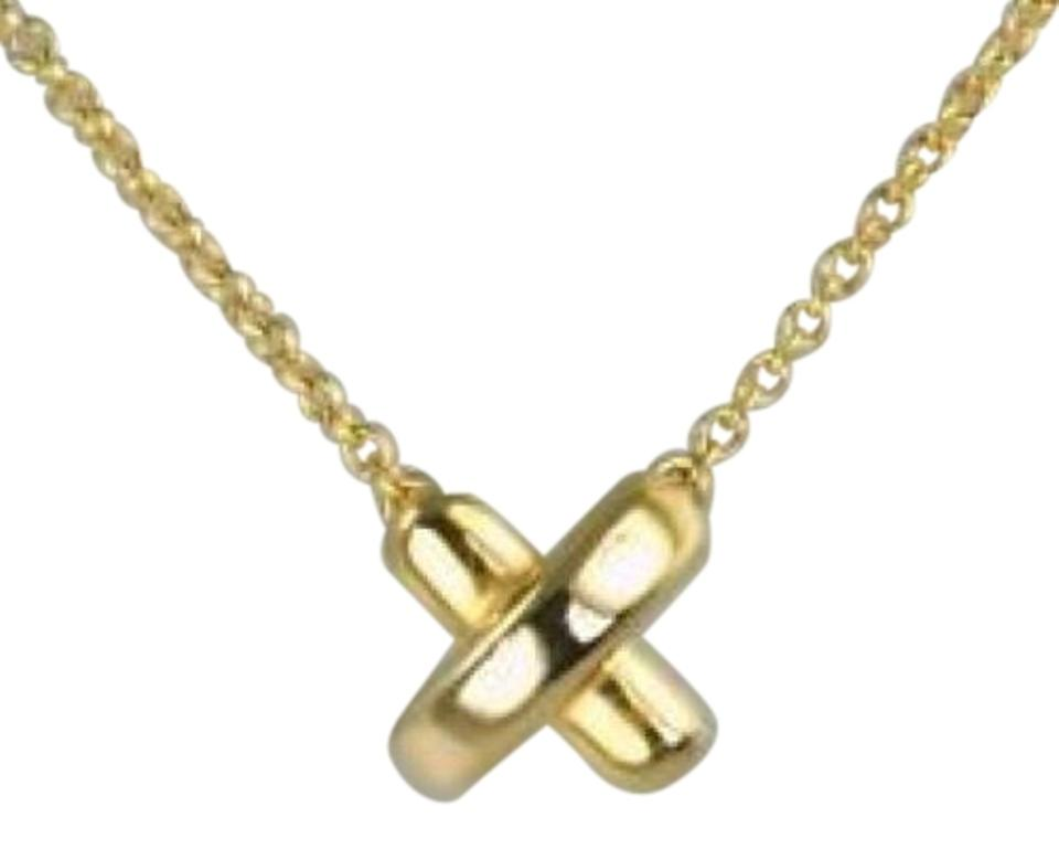 ffce8eb4b Tiffany & Co. Gold 18k Paloma Picasso X Kiss Pendant Necklace - Tradesy