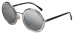 Chanel CHANEL ROUND SUNGLASSES 4226 Mirror Reflective Silver Gray C108W6
