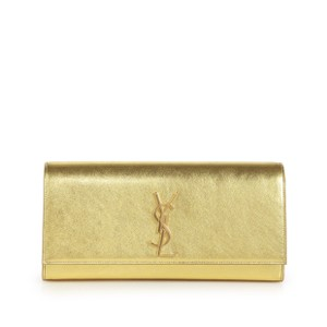 Saint Laurent Metallic Gold Clutch