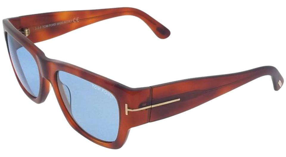 a585677e1a784 Tom Ford FT0493-53V Rectangle Men s Havana Frame Blue Lens Genuine  Sunglasses Image 0 ...