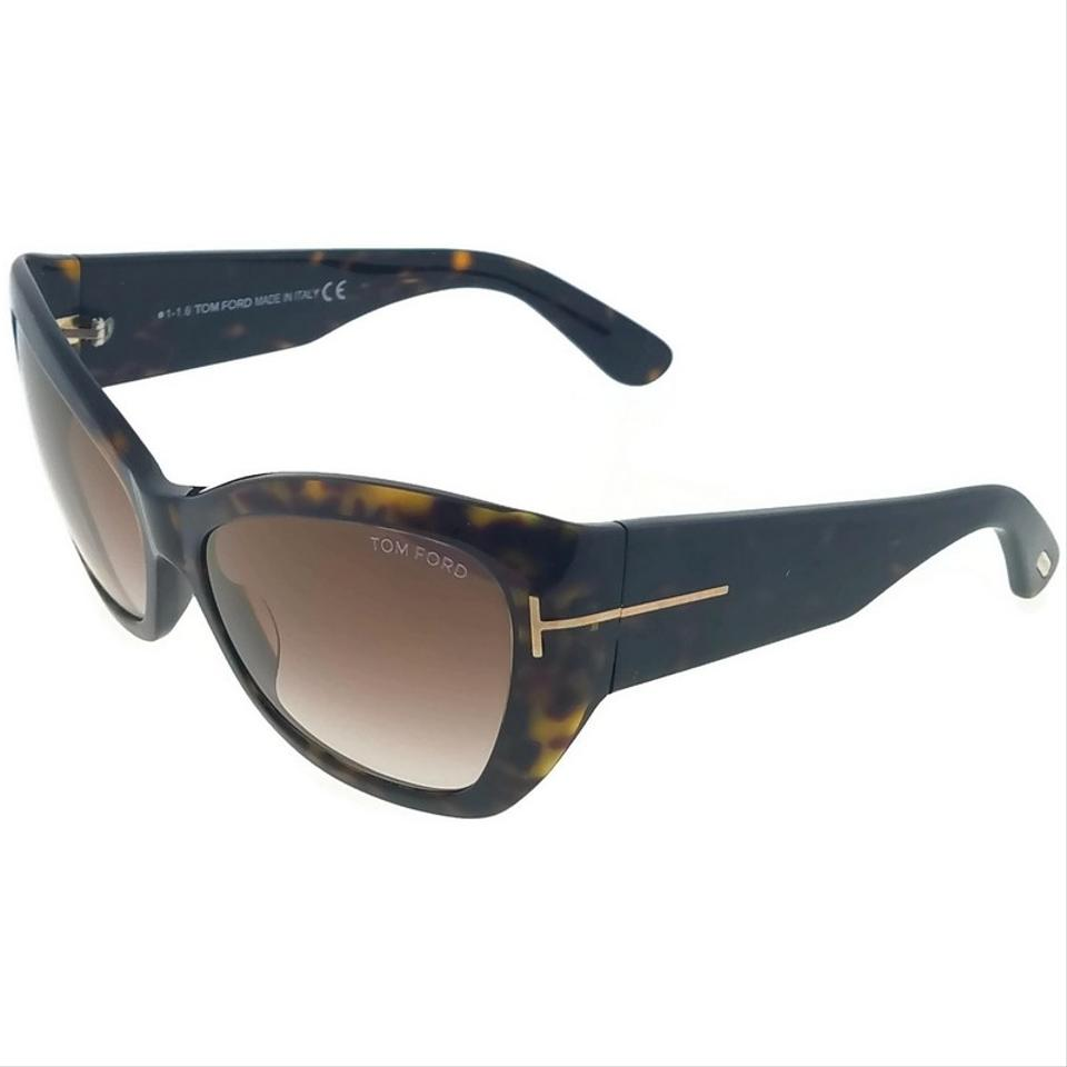96b5eb67b4f Tom Ford Ft0460-52g Cat Eye Women s Havana Frame Brown Lens 58mm Sunglasses