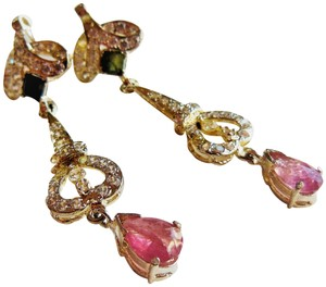 Handmade Lolite and Tourmaline Earrings