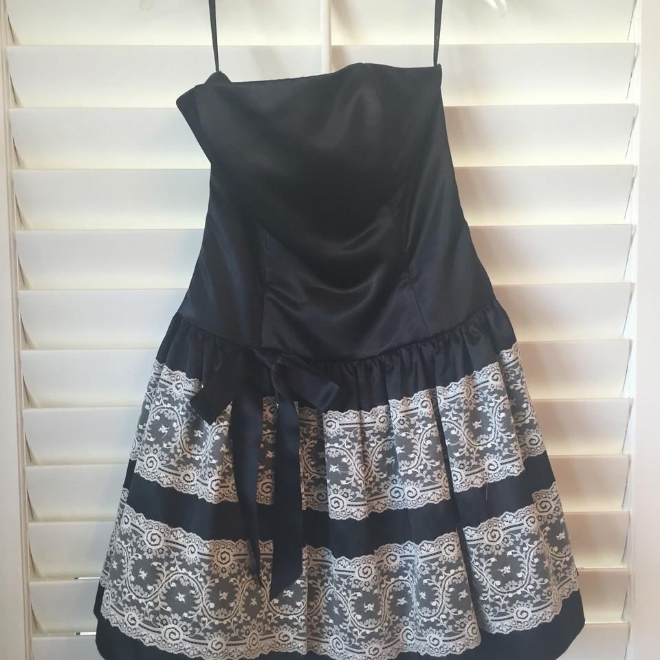 Jessica McClintock Black with White Lace Or French Maid? Above Knee ...