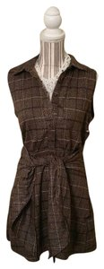 J.O.A. short dress Brown Plaid Triefront on Tradesy
