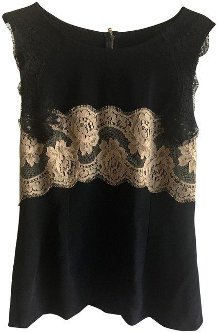 Preload https://img-static.tradesy.com/item/22696507/dolce-and-gabbana-black-dolce-and-gabbana-fabulous-with-lace-ml-night-out-top-size-10-m-0-3-650-650.jpg