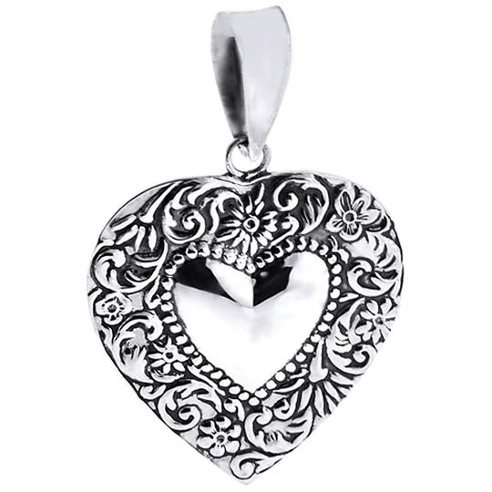 Preload https://img-static.tradesy.com/item/22696629/ny-collection-silver-womens-large-vintage-heart-pendant-oxidized-925-sterling-necklace-0-0-540-540.jpg