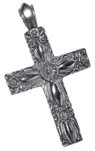 NY Collection Mens Womens Vintage Filigree Religious Cross Pendant 925 Sterling