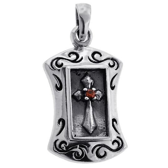 Preload https://img-static.tradesy.com/item/22696667/ny-collection-silver-mens-womens-religious-cross-tag-medallion-pendant-oxidized-sterling-necklace-0-0-540-540.jpg