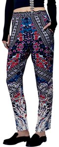 Free People Romantic New Fp Harem Joggers Long Maxi Wildflower Bohemian Hippie Skinny Pants Blue and Black and Purple and White and Orange and Red
