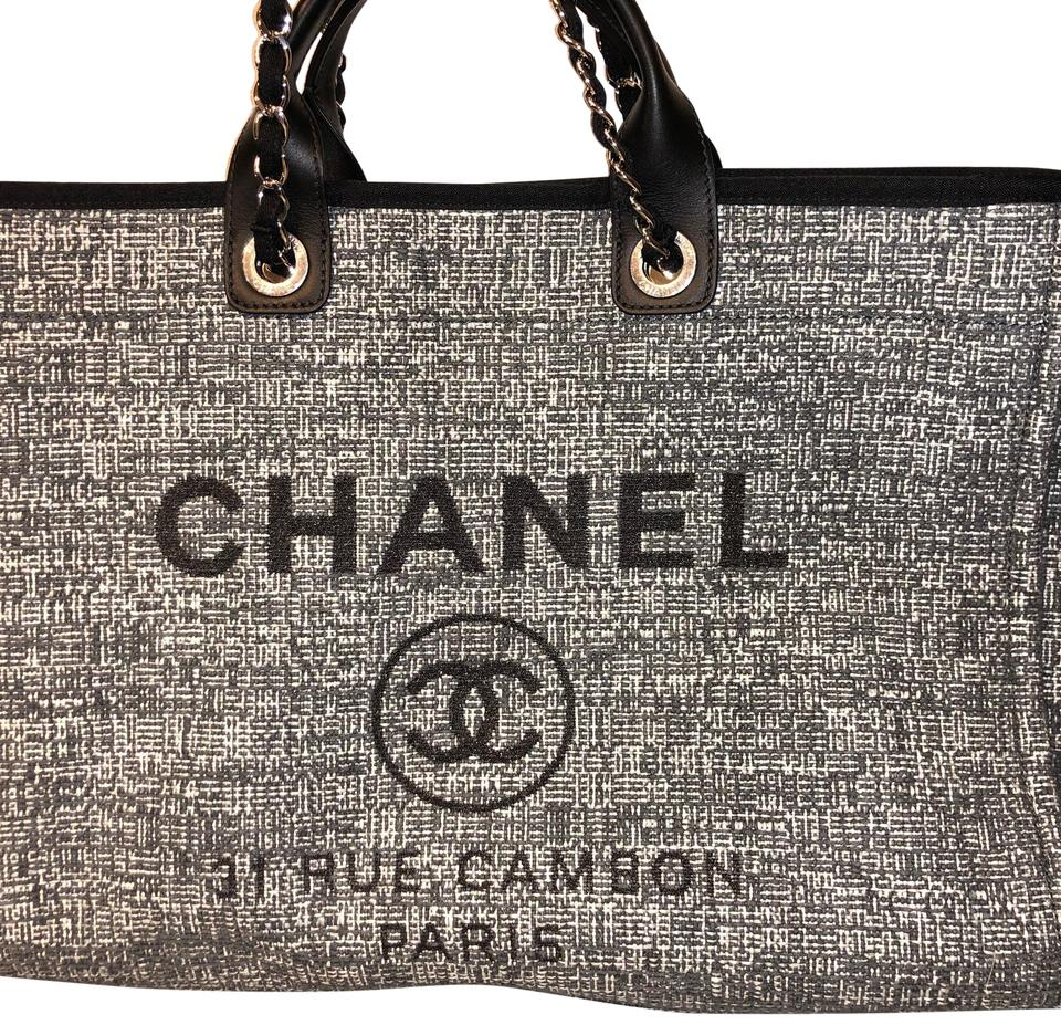 517dc2dd46a9 Chanel Deauville New 2018' Grey Fabric Tote - Tradesy