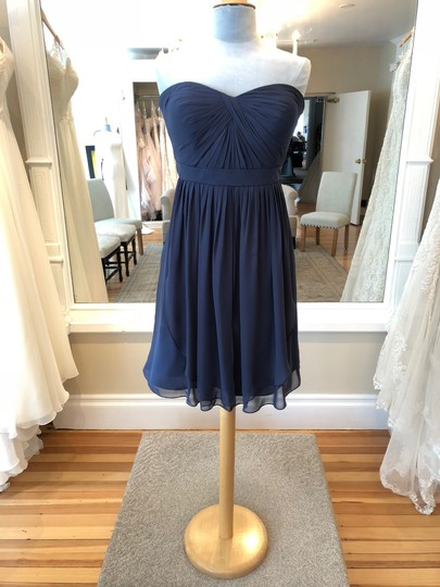 Jenny Yoo Evening Blue Luxe Chiffon Keira Formal Bridesmaid/Mob Dress Size 14 (L)