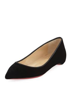 Christian Louboutin Pigalle Follies Velvet Stamped Black Flats