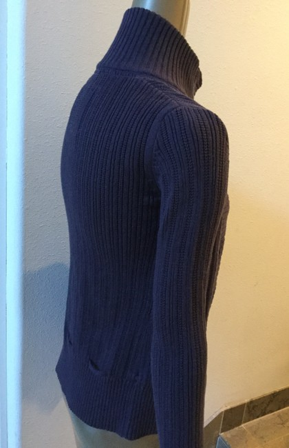 H&M Turtleneck Cotton Button-down Sweater Ribbed Cardigan