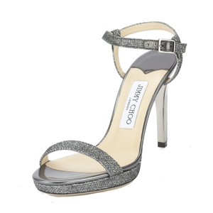 Jimmy Choo Glitter Gray Sandals
