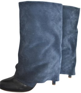 See by Chlo Chloe Suede Leather Navy Boots