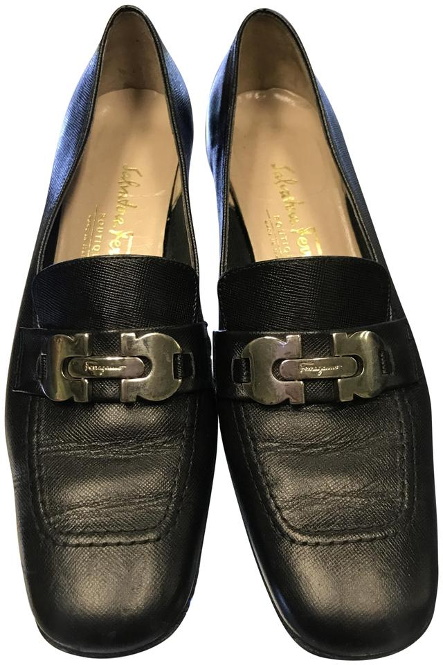 46813eeba8eb8 Salvatore Ferragamo Black Boutique Women's Leather Loafer 2afits ...