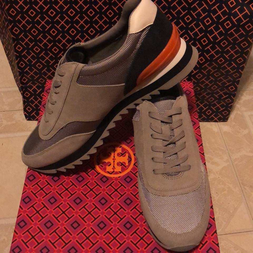 5e6c40857d5 Tory Burch Gray White Tory Navy Sawtooth Sneakers Sneakers Size US ...