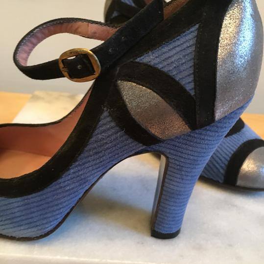 Marc by Marc Jacobs Blue and silver Pumps