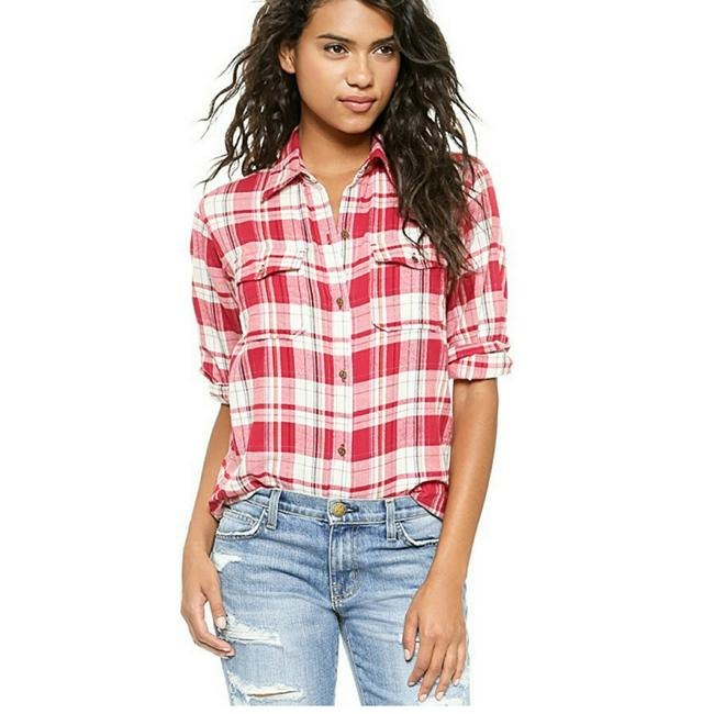 Preload https://img-static.tradesy.com/item/22697495/currentelliott-red-plaid-the-perfect-shirt-button-down-top-size-8-m-0-1-650-650.jpg