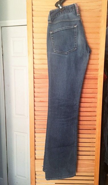 French Connection Button Closure Butt Designer Flare Leg Jeans-Light Wash