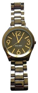 Nine West Nine West Women's Gunmetal-Tone Bracelet Watch 42mm