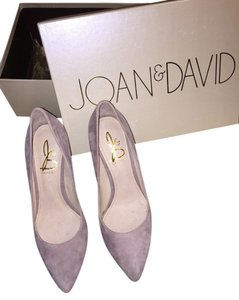 Joan & David Snake Skin Heel Leather Suede Pink Suede Pumps