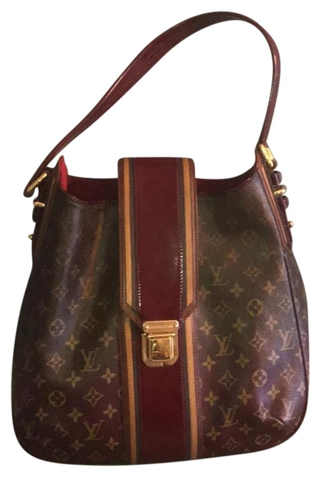 louis vuitton canvas mirage muster bordeaux hobo bag tradesy. Black Bedroom Furniture Sets. Home Design Ideas