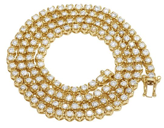 Preload https://img-static.tradesy.com/item/22697844/jewelry-unlimited-10k-yellow-gold-1-row-iced-tennis-choker-diamond-chain-21-necklace-0-1-540-540.jpg