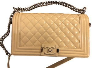 Chanel Patent Leather Leboy Classic Cross Body Bag