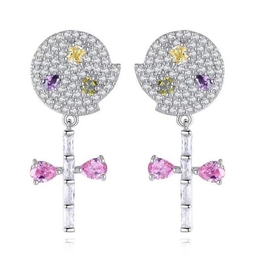 Preload https://img-static.tradesy.com/item/22697876/silver-and-pink-swarovski-crystals-the-christa-dainty-lollipop-s1-earrings-0-0-540-540.jpg