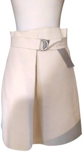 J.O.A. Wrap Around Canvas Skirt White