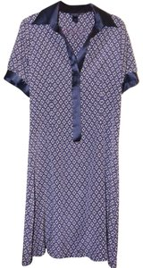 Pink Tartan short dress Blue Silk Shirtdress Geo Geometric Print Print on Tradesy