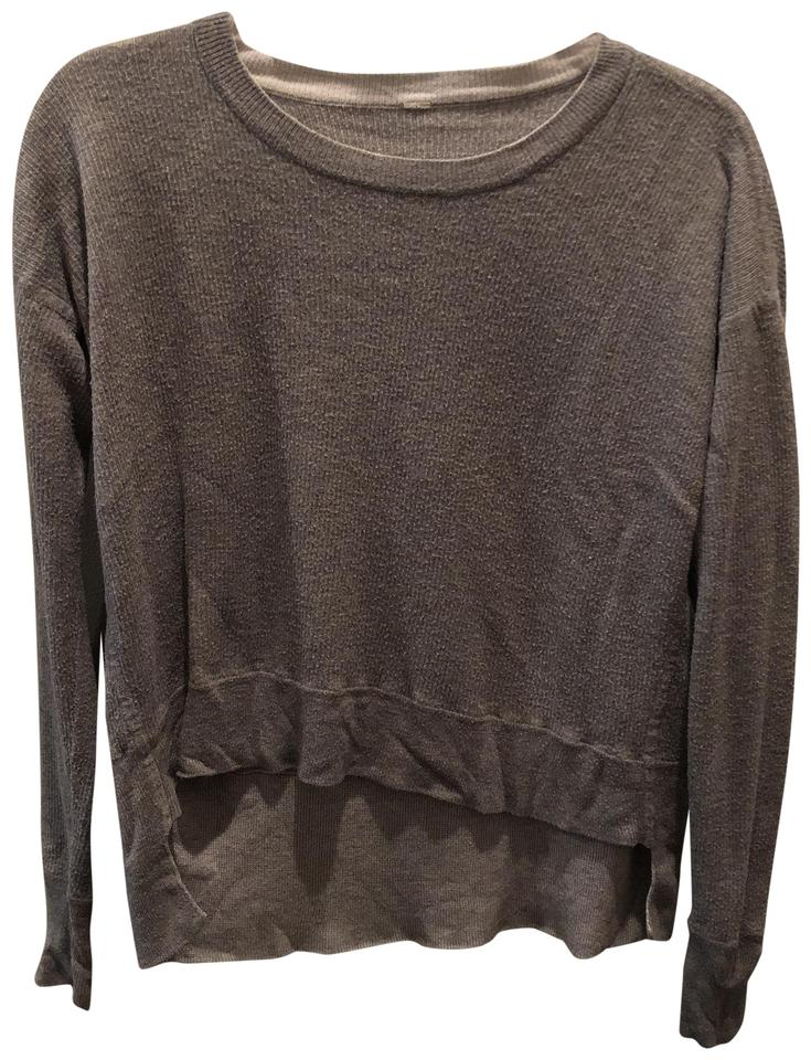 56d43fc404 Lululemon Grey High-low Sweatshirt Activewear Top Size 6 (S) - Tradesy