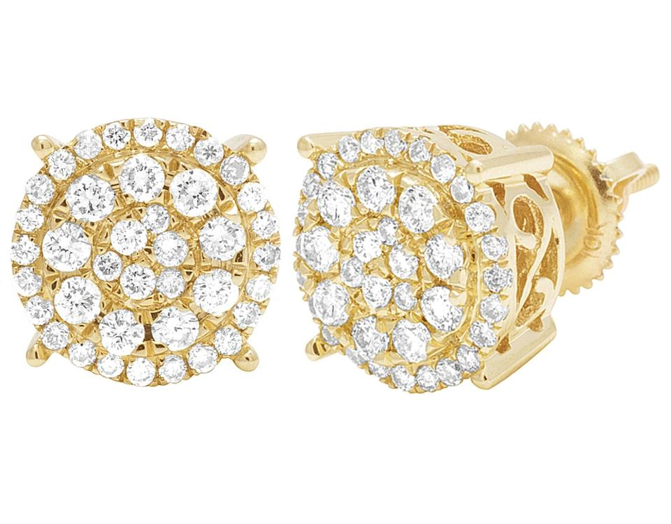 diamond gold white radiant fancy zoom and earrings yellow stud