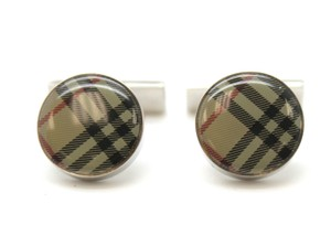 Burberry #16251 Iconic Classic Nove check pattern cuff links cufflinks