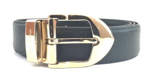 Louis Vuitton #16240 taiga leather gold buckle leather Belt size 110/44