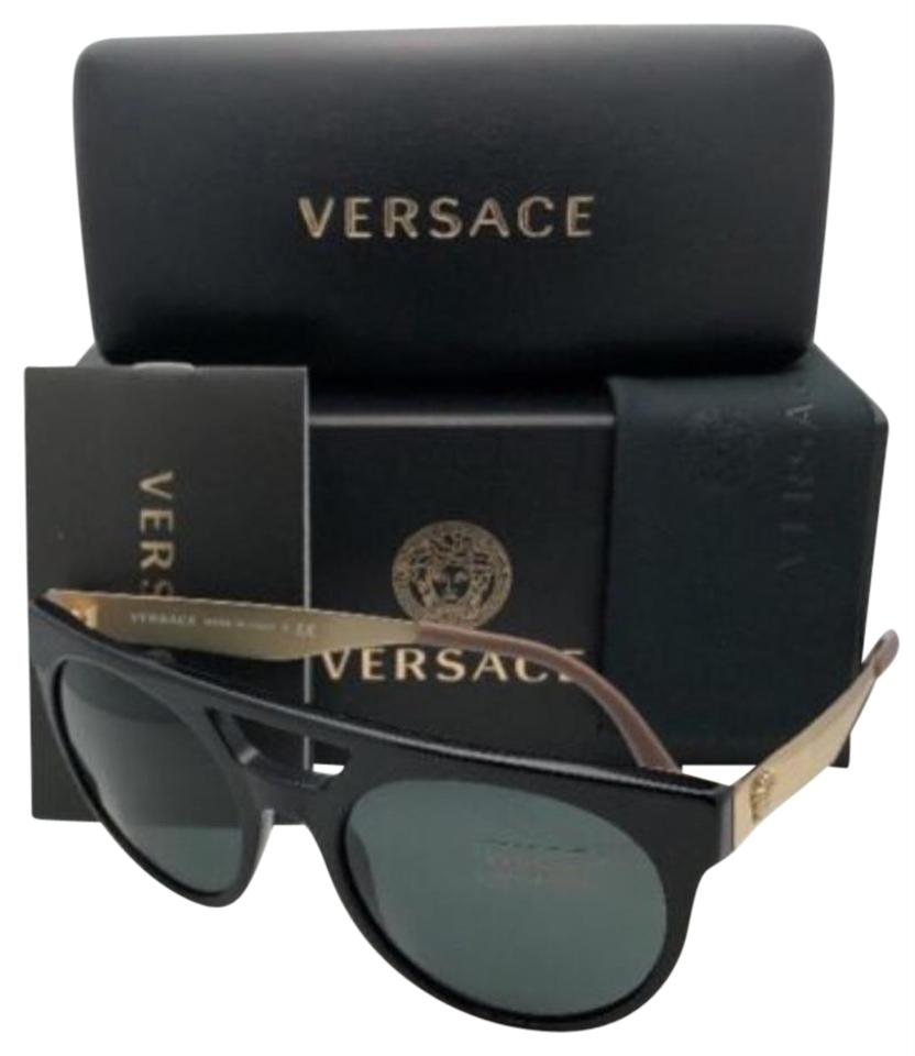 08fa464cafd3d Versace New VERSACE Sunglasses VE 4339 5248 87 55-20 Black   Gold Frame ...