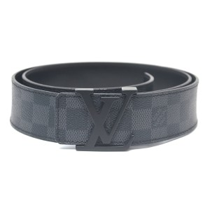 Louis Vuitton Louis Vuitton INITIALES 40mm Damier Graphite Canvas Belt