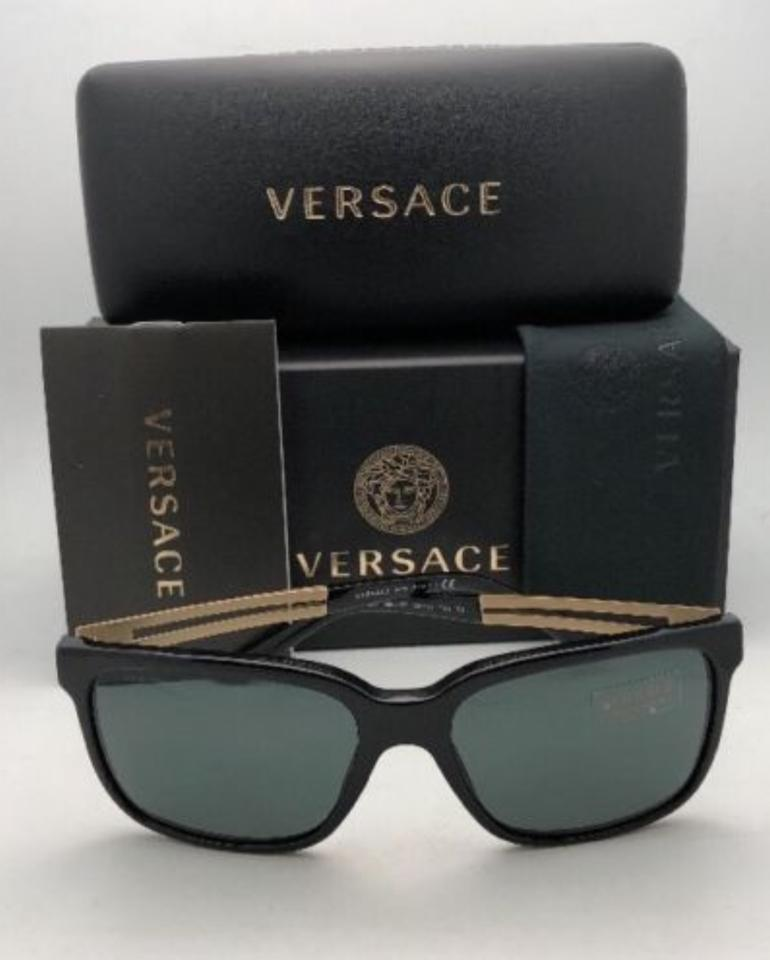 d1899f847a43 Versace New VERSACE Sunglasses VE 4307 GB1/87 58-17 Black & Gold Frame.  1234567891011