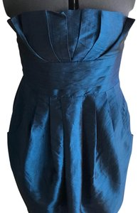 Forever 21 Strapless A-line Empire Waist Pleated Mermaid Dress