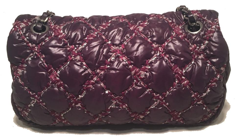 5fee5c529f5f Chanel Classic Flap Plum Quilted Puffy Purple Nylon Shoulder Bag - Tradesy