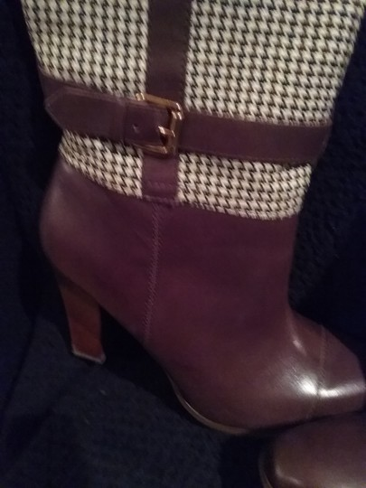 Tommy Hilfiger Brown/Khaki Checkered Boots