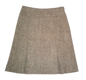 Theory Pleated Wool A-line Lined Skirt