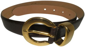 Jacqueline Ferrar Jacqueline Ferrar Dark Brown Leather Belt