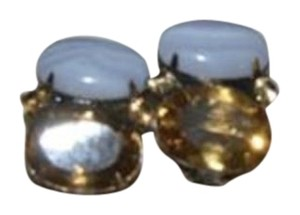 iRADJ Moini NEW SIGNED IRADJ MOINI CHALCEDONY CITRINE EARRINGS