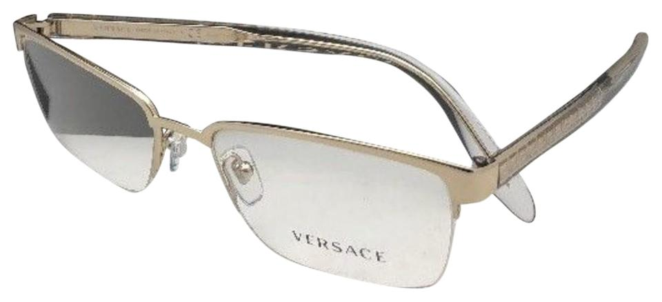 f96cafe9acc Versace New VERSACE Rx-able Eyeglasses 1241 1000 54-18 145 Semi Rimless  Silver ...