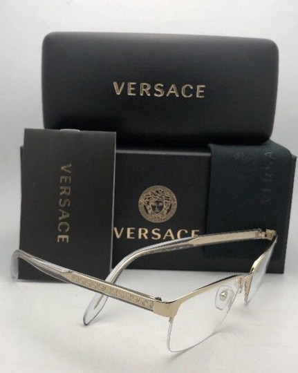 Versace New VERSACE Rx-able Eyeglasses 1241 1000 54-18 145 Semi Rimless Silver
