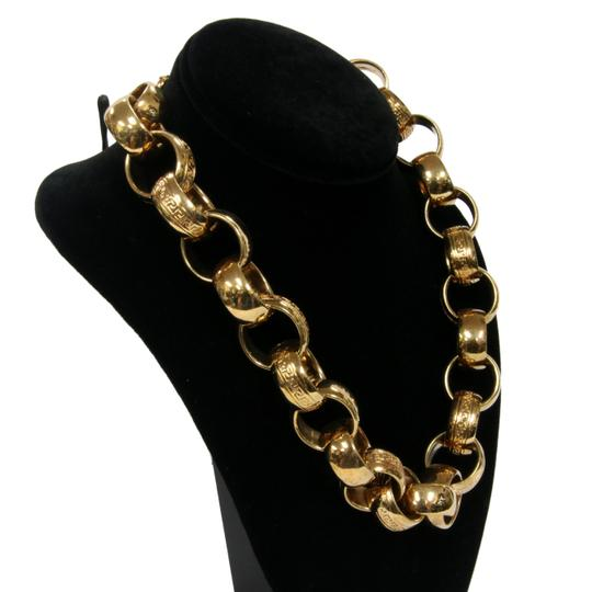 Versace Versace Chain Link Gold Plated Medusa Head Lock Detail