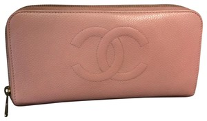 Chanel Pink Zip Around Wallet